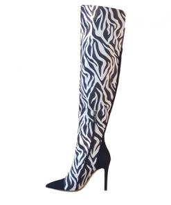 Zebi Thigh Boot stivali alti Sofi Kobs motivo zebrato