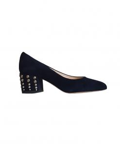 Jenny scarpe basse camoscio color nero con borchie Sofi Kobs