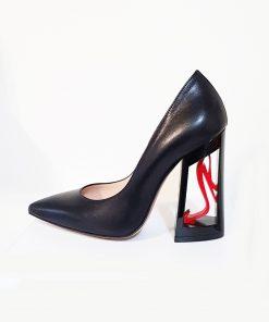 Sofi red scarpa in pelle tacco 11 vuoto con decor rosso