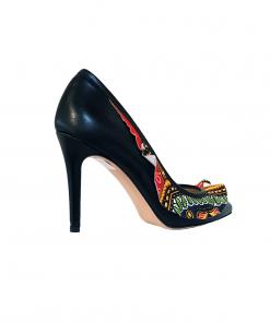 Elena Scarpe colorate tacco 11 con fascia africana. Sofi Kobs made in italy