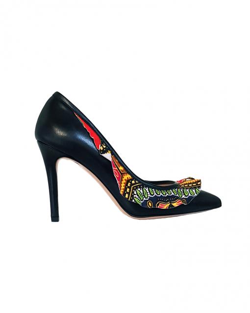 Elena Scarpe colorate tacco 11 made in italy con fascia africana. Sofi Kobs