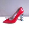Carolina scarpe di pelle italiana ed il tacco coperto di pietre preziose di Swarovski