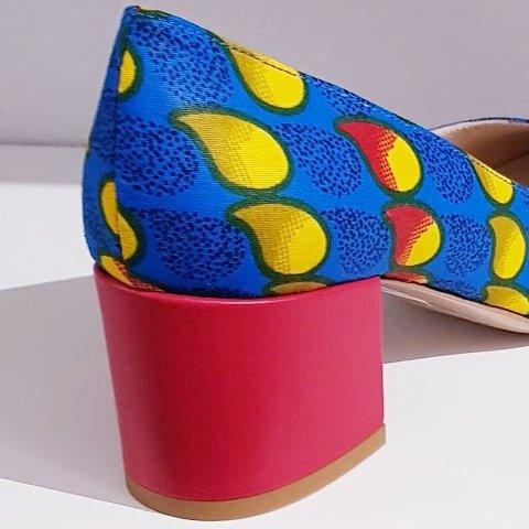Lina scarpe colorate tacco basso Sofi Kobs scarpe made in italy